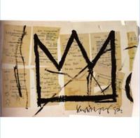 """pinturas a óleo venda por atacado-Alta qualidade Jean Michel Basquiat """"Crown de 1983"""" pintados à mão lona HD Print Art pintura a óleo, Home Decor Recados sobre tela multi Tamanhos G96"""