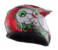 Wholesale motorbike cross - Double lens Motorcycle Helmets Motocross Racing Helmet Off Road Motorbike Full Face Moto Cross Helmet XS size