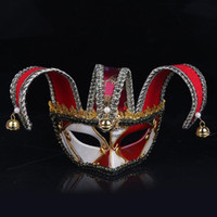 Wholesale masquerade masks plastic party supplies resale online - Fashion Plastic Venetian Masquerade Mask For Halloween Clown Half Face Masks Resuable Exquisite Party Supplies High Quality wp BB