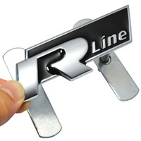Wholesale polo lines for sale - Group buy 3D Metal R Line Rline Car Grill Badge Emblem Car Styling Sticker For Volkswagen VW Polo Golf Jetta MK5 MK6 Passat B5 B6 B7