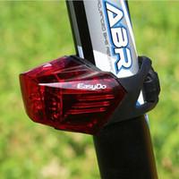 ingrosso k tedesco-Easydo tedesco K-MARK certificato Fanale posteriore per bicicletta traspirante 3 modalità Ciclismo LED Avvertimento di sicurezza per la luce posteriore Lampada USB ricaricabile per flash