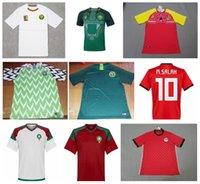Wholesale nylon foot feet - 2018 World Cup Nigeria Cameroun Morocco Soccer Jersey,Maillot De Foot Egypt M.SALAH Ghana 18 19 Football Jersey Shirt Africa Top Thai Custom