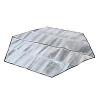 almohadilla de aluminio al por mayor-Impermeable Papel de aluminio Colchoneta de camping Plegable Plegable Dormir Picnic Colchón Respaldo Colchoneta al aire libre Campamento Colchonetas para tomar el sol