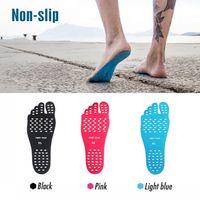 silikon kadın ayakları toptan satış-Yeni Silikon Unisex Plaj Ayak Yama Pedleri Tabanlık erkekler Rahat Su Geçirmez Görünmez kaymaz Ayakkabı Paspaslar kadınlar Ayak Pedleri Yama