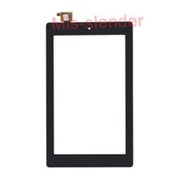 ingrosso amazon accende il nero-50Pcs (Testato) Nero per Amazon Kindle Fire 7 Fire7 (2017) Touch Screen Digitizer Panel Vetro esterno Sensor DHL Free