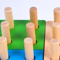Wholesale stacking blocks for sale - Wooden Column Shapes Stacking Toys Baby Preschool Educational Geometric Sorting Board Blocks Montessori Building Blocks