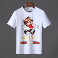 Wholesale new shirts patterns for men - 2018 Summer New Men's Short-sleeved T-shirt Round Neck Fashion Plain T Shirts For Splice Cartoon Pattern Casual Men Clothing 2845