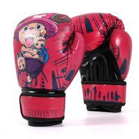 luvas para crianças venda por atacado-2018 novas luvas de boxe luvas crianças luva de treinamento de ginástica mma engrenagem de couro sintético luva de boxe de presente das crianças
