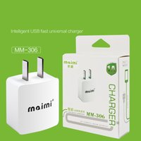 Wholesale wholesale iphone travel kits - Maimi New USB travel Charger Adaptor US Plug full 1A Output For Iphone Samsung USB Adaptor with cable kits with box