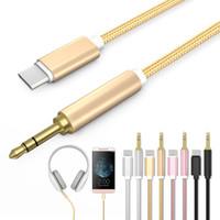 nota de audio al por mayor-USB 3.1 Tipo-C a 3.5mm Adaptador de teléfono del cable del audio para el automóvil del auricular para Samsung S8 S9 Plus Note 8 Huawei P20