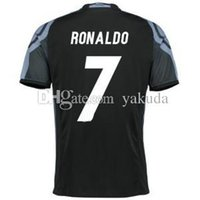 Wholesale Cheap Thailand Jerseys - 2016-17 Thailand Quality Home White #7 Ronaldo Soccer Jerseys, Cheap Football Soccer Jersey Mix Order Accepted,16-17 Soccer Jerseys Tops