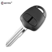Wholesale blank key shell resale online - Ignition System Car KEYYOU Button Remote Key Case for Mitsubishi Lancer EX Evolution Grandis Outlander Blank Key Shell Fob Cover