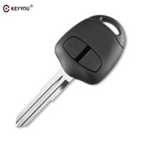 mitsubishi lancer key shell оптовых-Система зажигания автомобиля KEYYOU 2 Кнопка дистанционного ключа чехол для Mitsubishi Lancer EX Evolution Grandis Outlander Blank Key Shell Fob Обложка