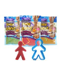 Wholesale wholesale space toys online - DIY Magic Colorful Play Sand Handmade Clay Christmas Gift Amazing Outdoor Indoor Safe g Bag Kids Toy Space multicolour sand MMA740