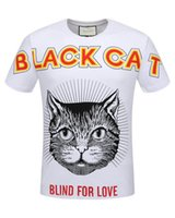 New 2018 Fashion Black Cat Print Luxury tshirt Mens Designer T Shirt da uomo 3D Medusa magliette manica corta Fitness cotone gg marca T-shirt