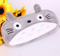 Wholesale totoro cosmetic bag - Children cartoon phone bag Super Kawaii Totoro Plush Toys Kids Gift pencil case 20CM Plush Toy Keychain Pendant wallet Bag Cosmetic bag