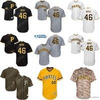 tailles de jersey de base cool achat en gros de-2017 NOUVEAUX Hommes Ph Pirates 46 Ivan Nova Jersey Flexbase Base Cool Maillots De Baseball Gris Blanc cousu taille S-3XL