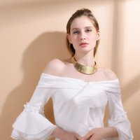 Wholesale twisted chunky choker necklace - ashion Jewelry U7 Stainless Steel Collier Women Statement Necklace Collar Jewelry Gold Color African Chunky Choker Necklace Wholesale N...
