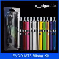 sigarayı atma tankları toptan satış-Evod MT3 blister başlangıç kitleri E-sigara kiti mt3 tankları e sigara EVOD atomizer Clearomizer Evod pil elektronik sigaralar vape kalem