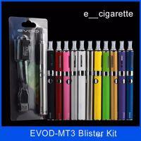 mt3 atomiseur evod kit cigarette électronique achat en gros de-Kits de démarrage Evod MT3 blister kit E-cigarette réservoirs mt3 e cigarette EVOD atomiseur Clearomizer Evod batterie cigarettes électroniques stylo vape