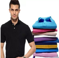 precio polo al por mayor-3-11 tamaño de alta calidad de los nuevos hombres polo camisa de cocodrilo bordado de los hombres de manga corta camisa de algodón jersey de polo precio bajo camiseta