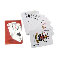 Wholesale playing cards poker size - Portable Mini Small Playing Poker Cards Poker Interesting Playing Card Board Game Outside Outdoor or Travel Mini Size Pokers