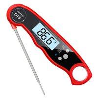 dijital anlık okuma termometreleri toptan satış-Anında Oku Termometre Dijital Elektronik Gıda Pişirme Barbekü Et Termometre Izgara Pişirme için Katlanabilir İç ile
