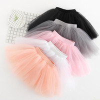 Wholesale baby girl bubble shorts resale online - New Summer Baby Girls Lace Skirt Kids Princess Bubble Skirt Pleated Tutu Skirt Short Dress Colors