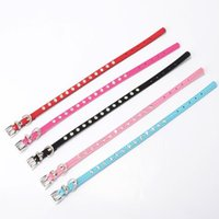 Wholesale solid color cat breakaway collars for sale - Group buy Durable Dog Cat Collar With Diamond Crystal Cashmere Cattle Puppy Collars Sturdy Adjustable Pet Supplies High Quality wn2 ff