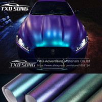 Wholesale Matte Blue Vinyl Car Wrap - Wholesale Pearl Matte Chameleon Vinyl Purple   blue  red Vinyl Car Wrap Film With Air Bubble Free CAST Car Vehicle Styling foil