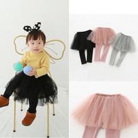 435eb5e9ad7 Kids Leggings Tulle Skirt Pants Girl Baby Autumn Pants Kids Leggings with  Tulle Tutu Skirt Pants Cake Skirt Trousers 80-120CM AAA1046