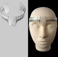 sobrancelha, forma, régua venda por atacado-Nova forma 1piece sobrancelha régua ferramenta mede microblading permanente compõem ferramenta para medir a sobrancelha perfeita