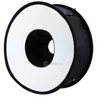 fotografie beleuchtung reflektor großhandel-45CM Portable Annulus Fotografie Licht Speedlite Soft Box Reflektor