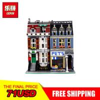 Wholesale kids pets toys - City Street Creator Pet Shop Supermarket Model LEPIN 15009 2082pcs Building Block Kids Toys Compatible 10218 bricks
