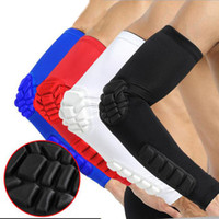Wholesale Elbow Cuffs - Custom Logo Basketball Arm Sleeve Pad Extended Breathable Crashproof Elbow Support Wrist Cuffs Outdoor Compression Sleeve G441S