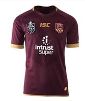 Wholesale National Wine - 2018 NRL National Rugby League Queensland 1819 QLD Maroons Malou Rugby jersey 2019 QLD MAROONS STATE OF ORIGIN Rugby jersey