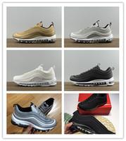 3cf5107e18c Nueva llegada Air Hombre Zapatos para correr 97 Triple Negro Plata Bullet  Negro CR7 Oro Mujeres Zapatillas de deporte Zapato para caminar 36-45