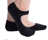 колготки белые хлопчатобумажные оптовых-Йога носки для женщин антибактериальные спинки пола пилатес носок гранулированный износостойкие нескользящей хлопок танец балерины Спорт