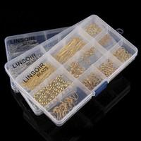 Wholesale earring needles diy resale online - 5 Styles Jewelery DIY Kits Findings Positioning Beads Nine Needle Set Lobster Clasp Jump Rings Earring Hook Spacer Bead Decor Free DHL G941F
