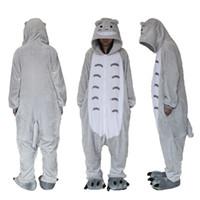 Wholesale Totoro Halloween Costume - Polar Fleece Totoro Unisex Onesie Cosplay Costume Hoodies Pyjamas Sleep Wear
