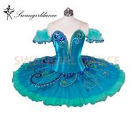 Wholesale Women Sleeping Beauty Costume - Green Sleeping Beauty USA Ballet Comeptiton Girls La Esmeralda Variation Professional Stage Costume Tutu Adult9038