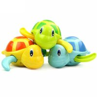 ingrosso vasca da windsurf vento giocattoli-Cute Cartoon Baby Turtle Wound-up Catena Piccolo Animale Tartaruga Baby Bath Toy Infant Swim Tartaruga Catena Clockwork Giocattoli Classici Kid