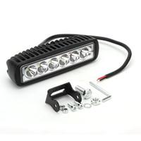 Wholesale 12v work lights - 18W Work Light 6inch Bar Lamp for Motorcycle Tractor Boat Off Road Truck SUV Spot Flood 12v 24v