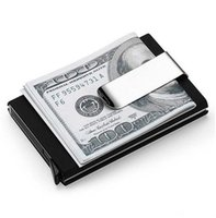 Wholesale automatic wallet - High QualitId Men Wallets Credit card holder Automatic card sets business aluminum wallet card sets cash metal clip holder GA185