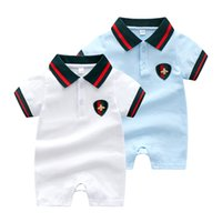 Wholesale summer clothes for newborn girl resale online - Retail Summer Short Sleeved Jumpsuit For Newborn Romper Character Baby Boy Clothes and Baby Girl Clothes Baby Rompers Summer