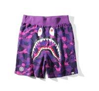 ingrosso applique da spiaggia-Nuova vendita calda Shark Ape Head Pants Summer Fashion Beach Shorts Camouflage stampato Pantaloncini da uomo