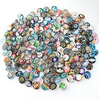 düğmeli saatler toptan satış-PAPAPRESS 100 adet / grup Karışık Birçok Stilleri Snaps 18mm Cam Snap Düğmesi Fit Gerdanlık Düğmeleri Izle Düğmesi Bilezik Snaps Takı M781