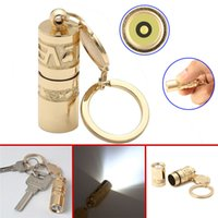 Wholesale chinese items - Mini Golden Portable LED Flashlight Torch Handheld Waterproof Outdoor Camping Keychain Torch Chinese Art Lamp DDA671 Novelty Items