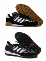 Wholesale new indoor shoes for sale - Group buy New MUNDIAL GOAL INDOOR Soccer Shoes Football Boots Cheap Soccer Boots Mundial Team Modern Craft Astro TF Turf Mens Soccer Cleats