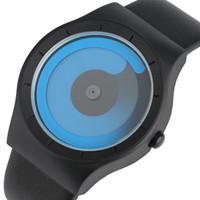 Wholesale Concepts Sport - Wholesale-2017 Fashion Creative Concept Men Watches Blue Swirl Pointer Quartz Wristwatch Geek Male Sports Hour Turntable Relogio Masculino